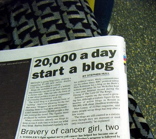 20,000 a day start a blog