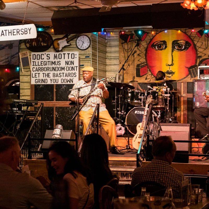 Don't let the bastards grind you down - a night at a blues club in Chicago.