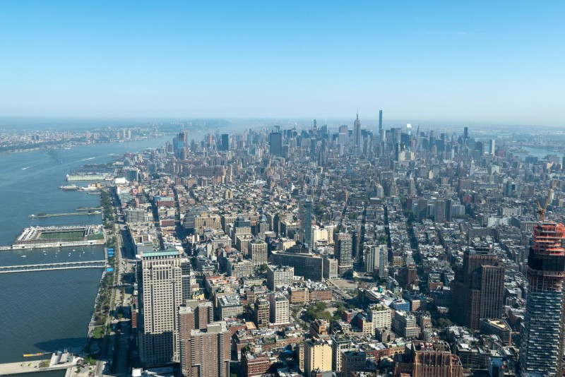 Back to New York - a view from One World Trade Center.