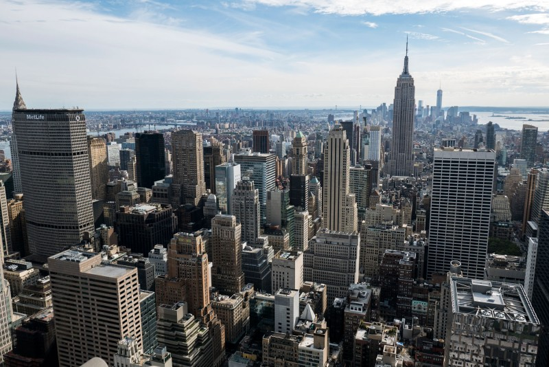 A daytime view from the Top of the Rock.