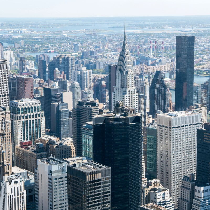 View from the Empire State of the Chrysler Building.