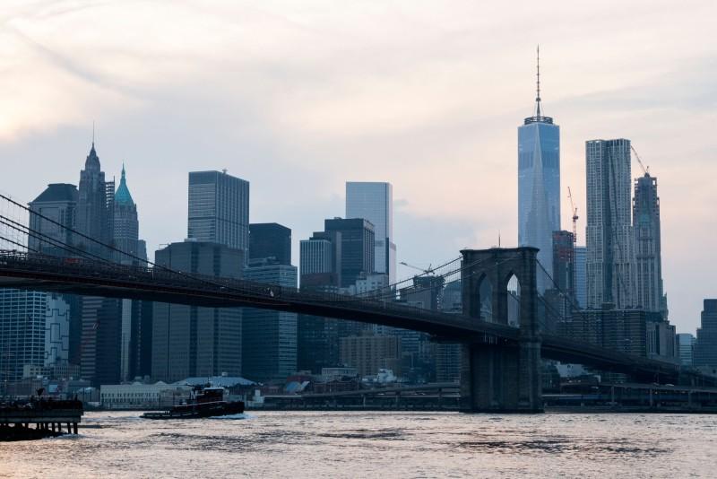 Manhattan skyline - view from Brooklyn