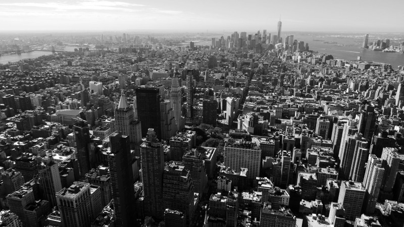 View downtown, taken from the Empire State Building.